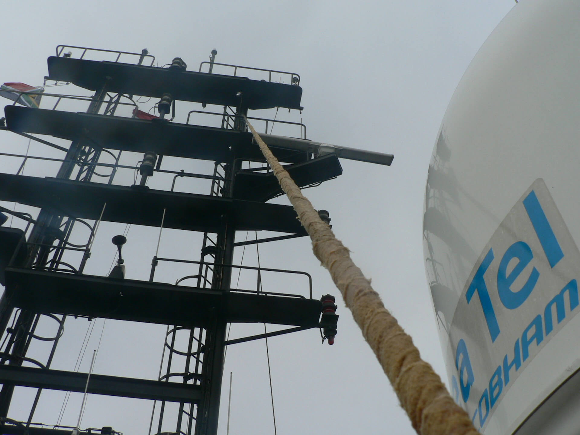 Maintenance on mast poles