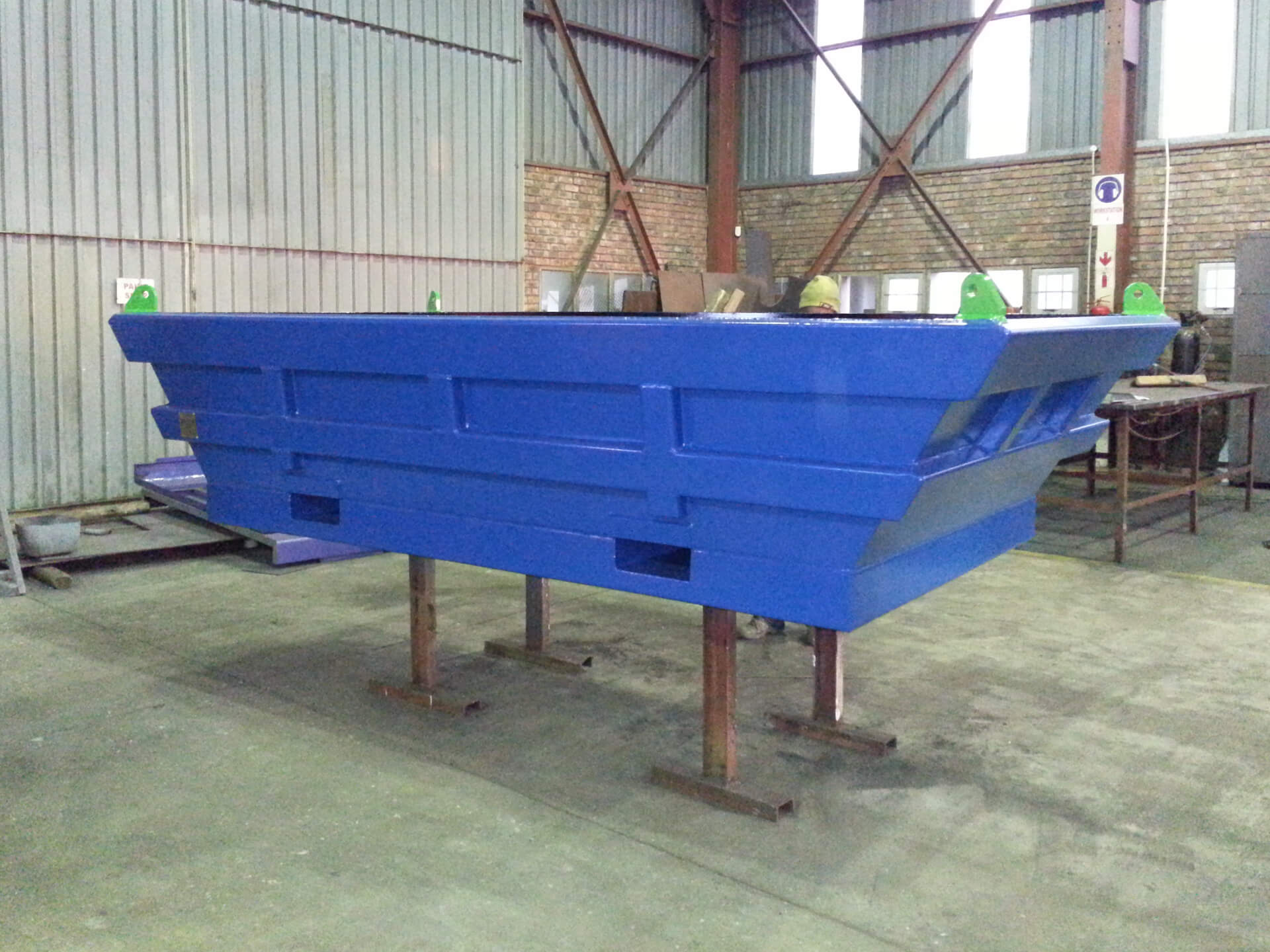 Manufacturing and refurbishment of waste skips